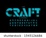 vector of stylized modern font... | Shutterstock .eps vector #1545126686