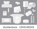 hygiene product 3d mockups with ...   Shutterstock .eps vector #1545140243
