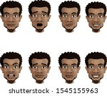set of male facial emotions.... | Shutterstock .eps vector #1545155963