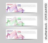 business vector abstract banner ... | Shutterstock .eps vector #1545164450