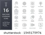 machine learning line icons.... | Shutterstock .eps vector #1545175976