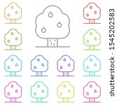 tree  apple multi color icon....