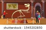 Paleontology Museum Flat Vector ...