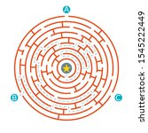 labyrinth maze game. circle... | Shutterstock .eps vector #1545222449