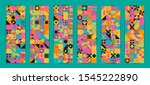 simple banner of decorative... | Shutterstock .eps vector #1545222890