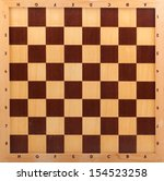 wooden chessboard isolated on... | Shutterstock . vector #154523258