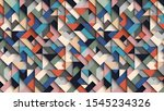 abstract colorful geometric ...   Shutterstock . vector #1545234326