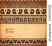 tribal vintage ethnic banners | Shutterstock .eps vector #154524320