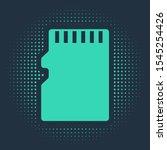 green micro sd memory card icon ... | Shutterstock .eps vector #1545254426