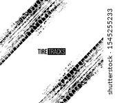 tire tracks vector illustration.... | Shutterstock .eps vector #1545255233