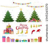 set of christmas elements for... | Shutterstock . vector #1545265370