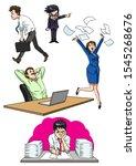 employees office character...   Shutterstock . vector #1545268676