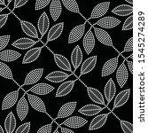 leaf seamless pattern. black...   Shutterstock .eps vector #1545274289