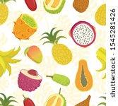 tropical fruits seamless... | Shutterstock .eps vector #1545281426