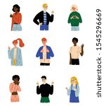 people of different nations...   Shutterstock .eps vector #1545296669