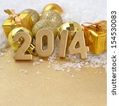 2014 Year Golden Figures On Th...