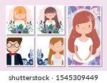 wedding groom and bride flower...   Shutterstock .eps vector #1545309449