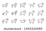 set of dogs breed standing... | Shutterstock .eps vector #1545310490