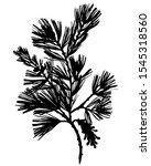 black botanical element...   Shutterstock .eps vector #1545318560