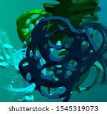 cartoon handmade surreal... | Shutterstock . vector #1545319073
