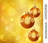 elegant glimmered christmas... | Shutterstock .eps vector #154532900