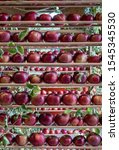 Red Apples On Display At The...