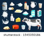 milk product vector icons of... | Shutterstock .eps vector #1545350186