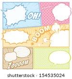 comic template vector  | Shutterstock .eps vector #154535024