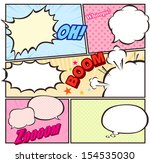 comic template Vector  - stock vector