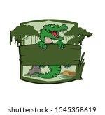 Alligator  Crocodile  Holding...