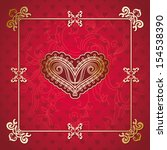 stylish valentines card with... | Shutterstock .eps vector #154538390