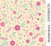 seamless pattern with autumn... | Shutterstock . vector #1545384170