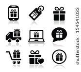 present  shopping vector icons... | Shutterstock .eps vector #154541033