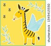 unusual fantastic animal. cute... | Shutterstock .eps vector #1545415550
