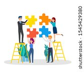 business character holding... | Shutterstock . vector #1545429380