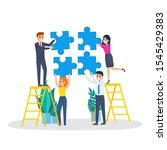 business character holding... | Shutterstock . vector #1545429383
