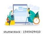 people building website concept....