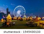 winter wonderland in riyadh... | Shutterstock . vector #1545430133