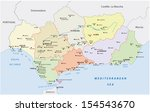 andalusia administrative map | Shutterstock .eps vector #154543670
