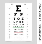 eyes test chart. poster with... | Shutterstock .eps vector #1545456980