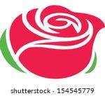 Stock vector rose 154545779
