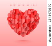 happy valentine's day card.... | Shutterstock .eps vector #1545470570