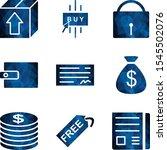 icon set of e commerce for... | Shutterstock .eps vector #1545502076