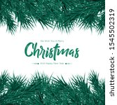 merry christmas with branch... | Shutterstock .eps vector #1545502319