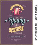 "vintage ""we are young"" poster.... 