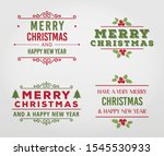 merry christmas label vector... | Shutterstock .eps vector #1545530933