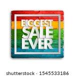 Biggest Sale Ever Ad Wood Board ...