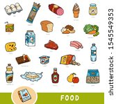 color set of food  collection... | Shutterstock .eps vector #1545549353