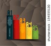 minimal infographics. vector | Shutterstock .eps vector #154555130