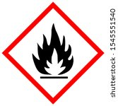 Flammable Symbol Sign Draw Fro...